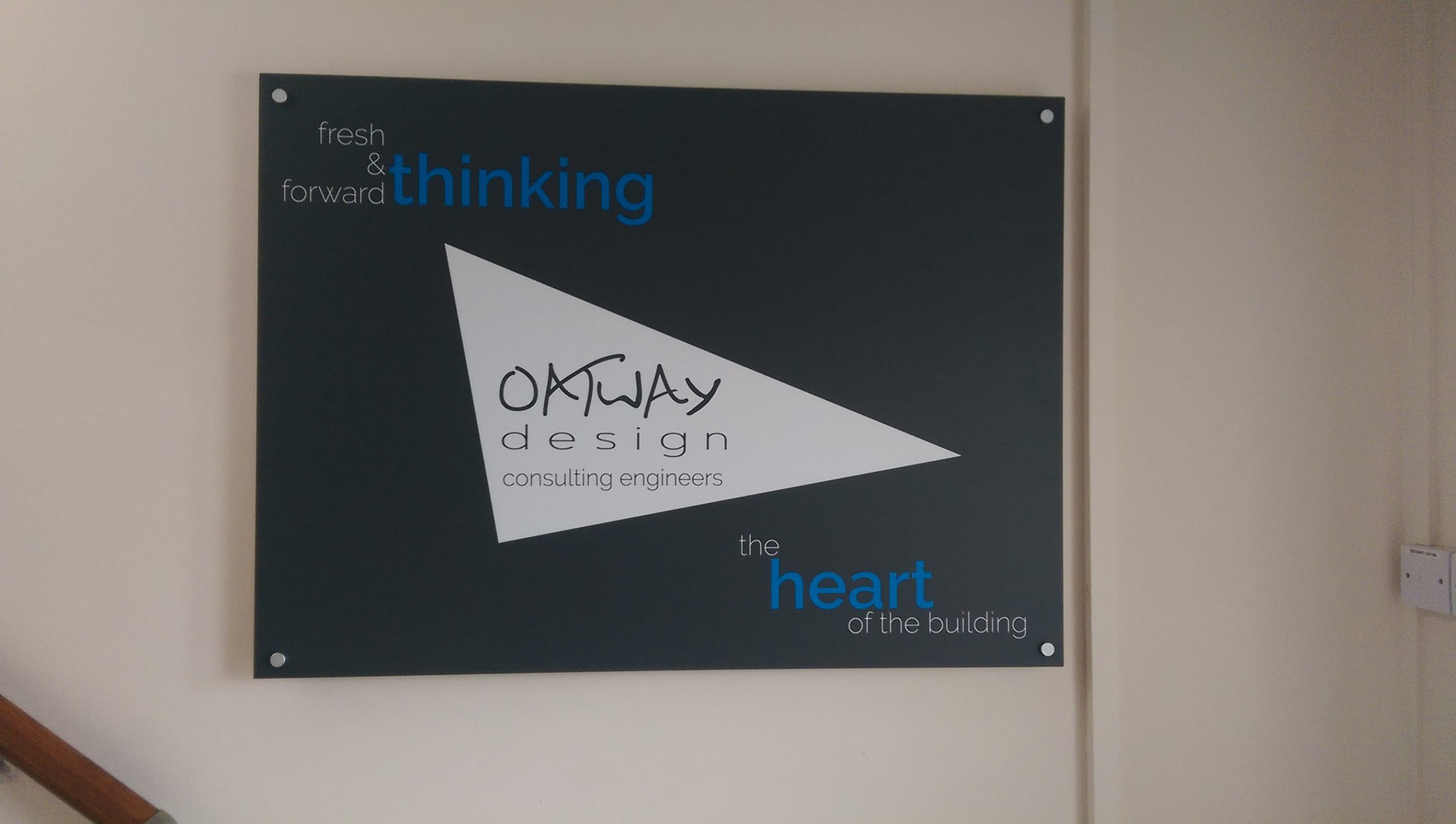 New Office Signage… Looking Good