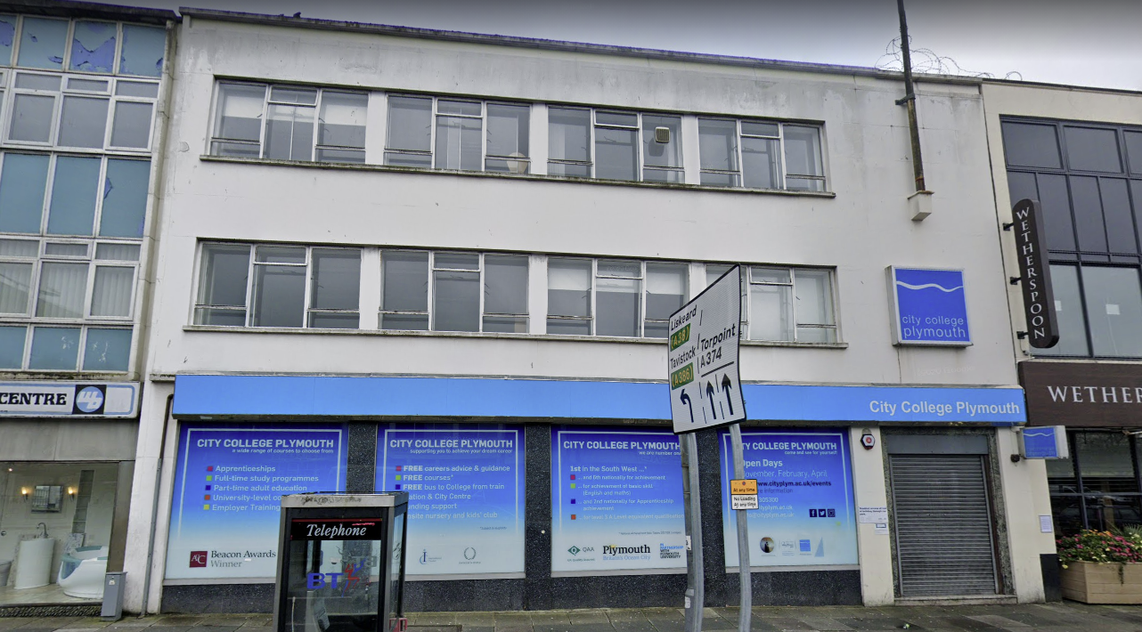 Building refurbishment for City College Plymouth